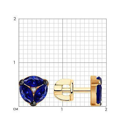 Серьги SOKOLOV из золота с бриллиантами и сапфирами