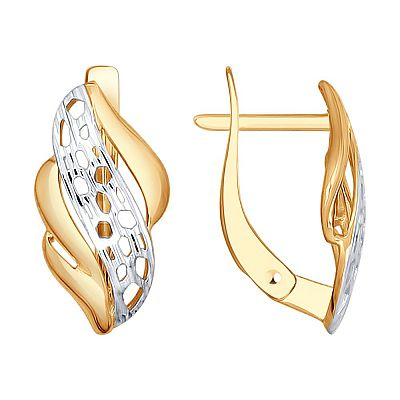 Серьги SOKOLOV из золота с алмазной гранью