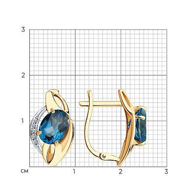 Серьги SOKOLOV из золота с топазами и фианитами