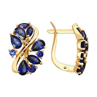 Серьги SOKOLOV из золота с синими корундами