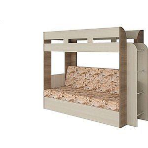 Кровать Атлант Карамель 75 Geraffe (Саванна) ясень шимо светлый, ясень шимо темный