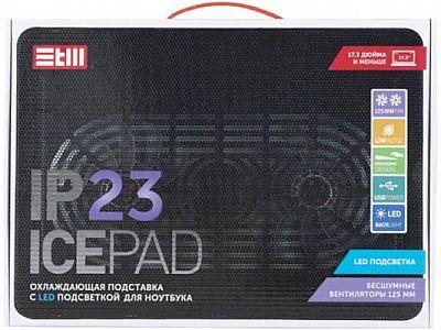 "STM Laptop Cooling IP23 Black (17,3"""", 2x(125x125), plastic+metal mesh)"