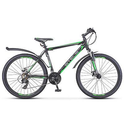 Велосипед Stels Navigator 620 MD V010 2017 Чёрный\Зелёный\Антрацит (LU088804)
