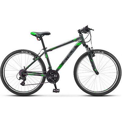 Велосипед Stels Navigator 500 V V030 2019 Черный\Зелёный (LU093441)