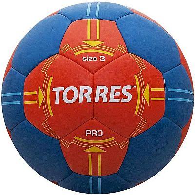 Мяч гандбольный Torres PRO H30063 (р.3) матчевый, оранж/син.