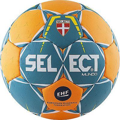 Мяч гандбольный Select Mundo Junior (р.2) тренировочный, 32 пан, зел/оранж.