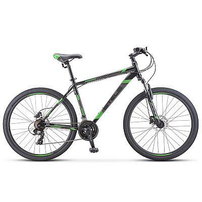 Велосипед Stels Navigator 700 D F010 2020 Чёрный\Зелёный 27.5? (LU093938)