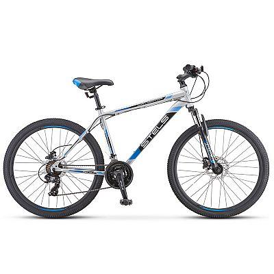 Велосипед Stels Navigator 500 D F010 Серебристый/Синий 26? 2019 (LU093937)