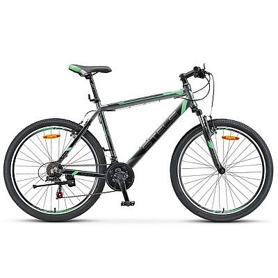 Велосипед Stels Navigator 600 V V020 2017 Антрацитовый\Зеленый (LU085064)