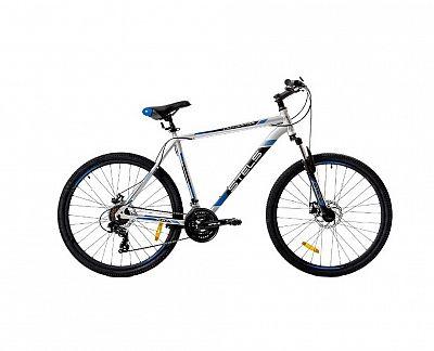 Велосипед Stels Navigator 700 MD F010 2019 Серебристый\Синий 27.5? (LU092626)